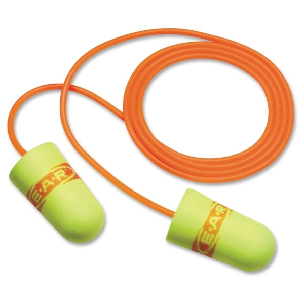 E-A-R NRR 29 Corded Foam Ear Plugs - 200/BX