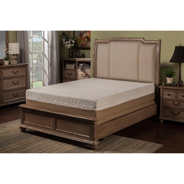 Sleep Zone Malibu 12-inch California King-size Memory Foam and Latex Hybrid Mattress