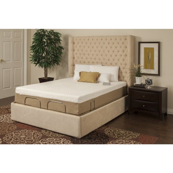 Sleep Zone Malibu 12-inch Twin-size Memory Foam and Latex Hybrid Mattress