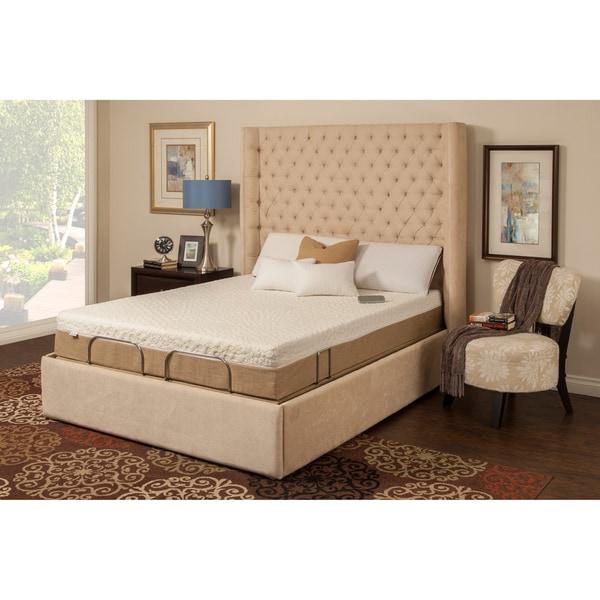 Sleep Zone Malibu 12-inch Queen-size Memory Foam and Latex Adjustable Mattress Set