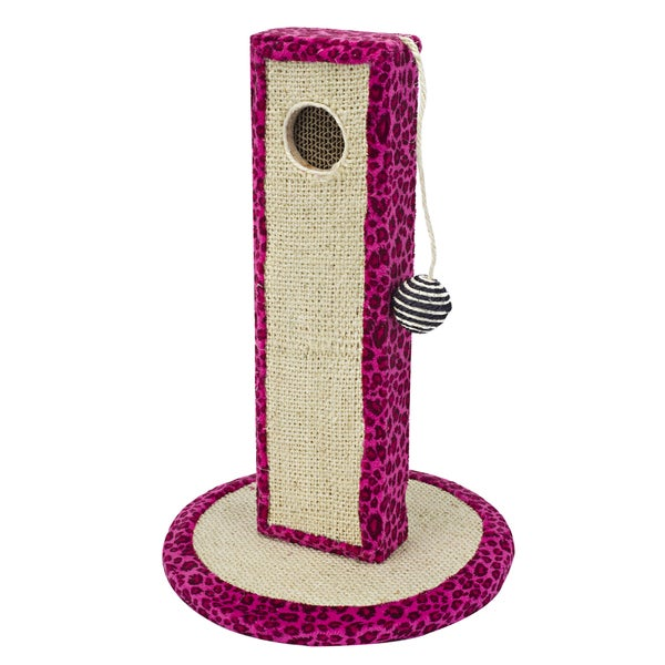 Cat-Life Neon-Leopard Print Activity Center