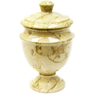 Nature Home Decor Siberian Collection Sahara Beige Marble Canister