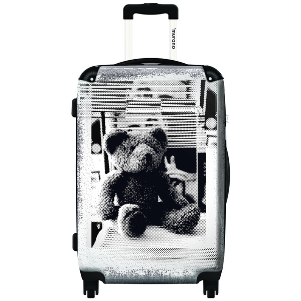 Murano Relaxing Like A Teddy Bear 20-inch Carry On Hardside Spinner Suitcase