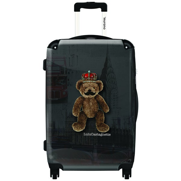 Murano 'I Am The King' 20-inch Carry On Hardside Spinner Suitcase