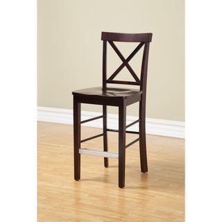 Somette Boulder Black Cherry Counter-Height Chair - Set of 2