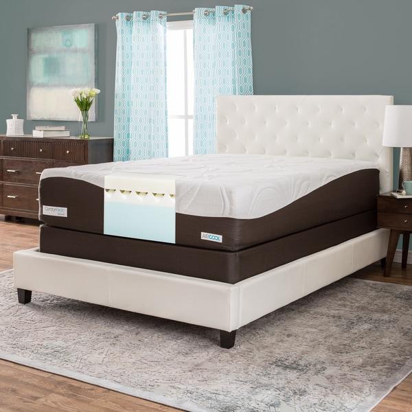 ComforPedic from BeautyRest 14-inch Queen-size Memory Foam Mattress Set