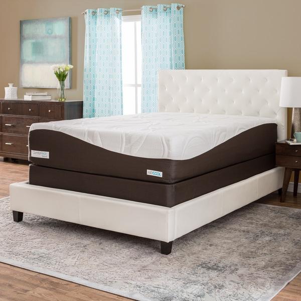 ComforPedic from BeautyRest 14-inch Full-size Memory Foam Mattress Set