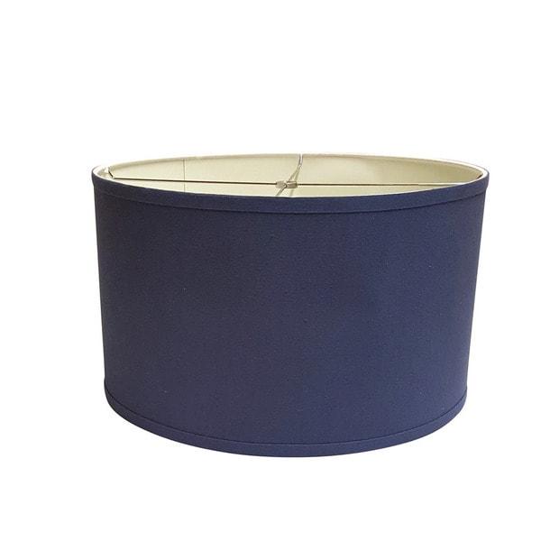 crown lighting blue large linen drum lamp shade 17975598 overstock. Black Bedroom Furniture Sets. Home Design Ideas