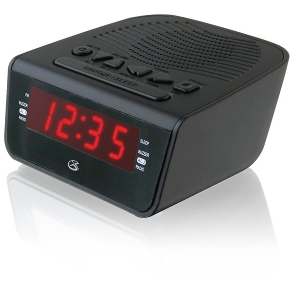 Gpx AM/ FM Clock Radio with Dual Alarm (Refurbished)