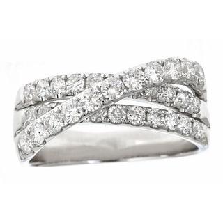 Anika and August 18k White Gold 1 3/8ct TDW Round White Diamond Ring (G-H, SI1)