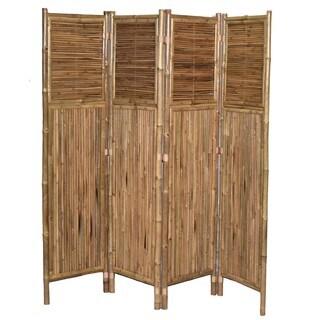 Bamboo 4-panel Vertical Screen