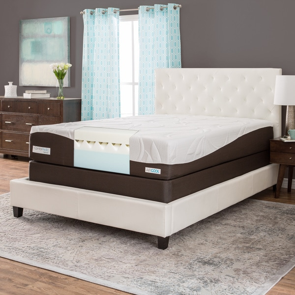 ComforPedic from BeautyRest 12-inch Queen-size Memory Foam Mattress Set