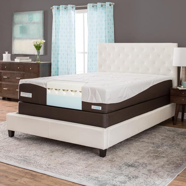 ComforPedic from BeautyRest 12-inch Queen-size Memory Foam Mattress Set
