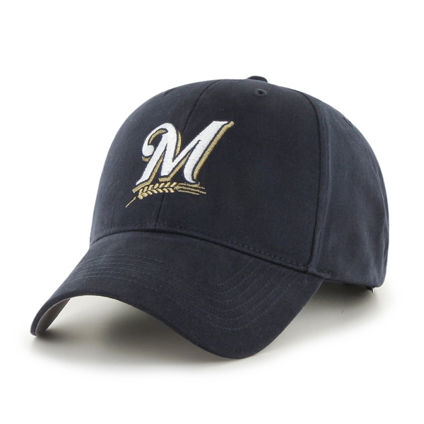 47 Brand Milwaukee Brewers MLB Basic Hook and Loop Hat 16909420