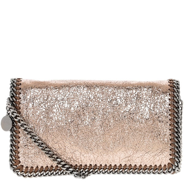 Stella McCartney Falabella Metallic Bronze Crackle Crossbody Bag