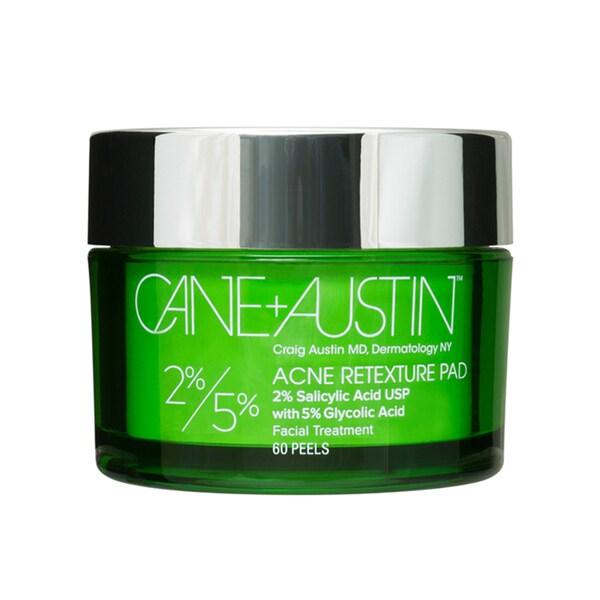 Cane + Austin 2% Salycylic 5% Glycolic Acid Acne Retexture Pad (60 Peels)