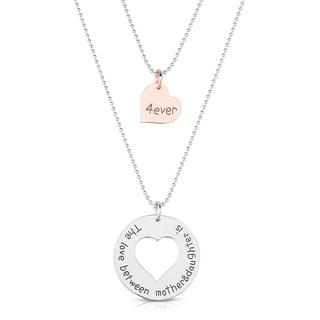 Collette Z Dual Mother Daughter Pendant Necklace