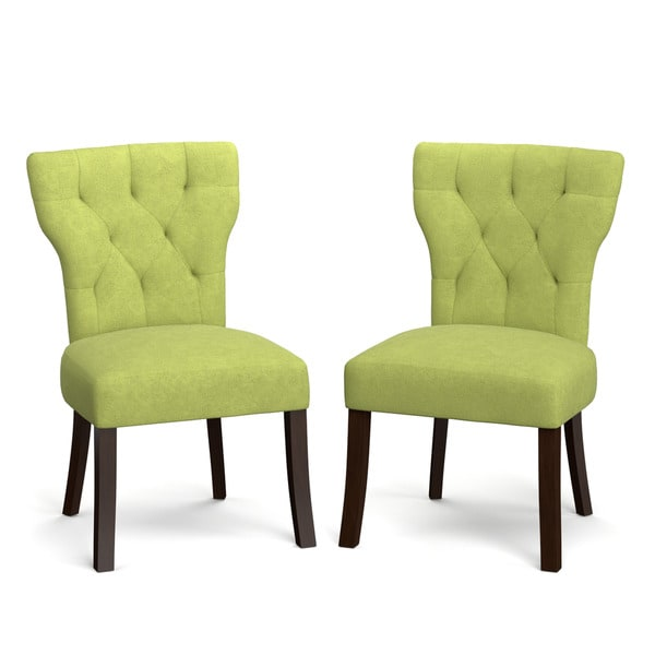 portfolio sirena spring green velvet upholstered armless dining chairs set of 2 17975992. Black Bedroom Furniture Sets. Home Design Ideas
