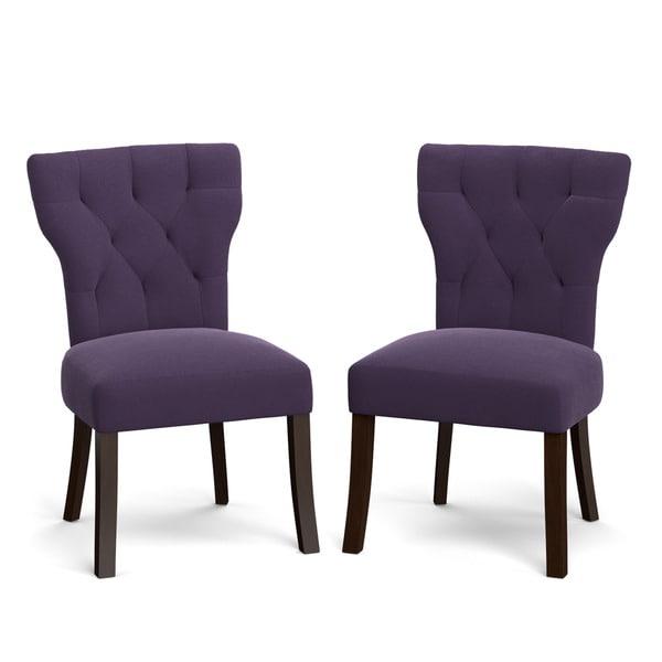 Portfolio Sirena Plum Purple Velvet Upholstered Armless
