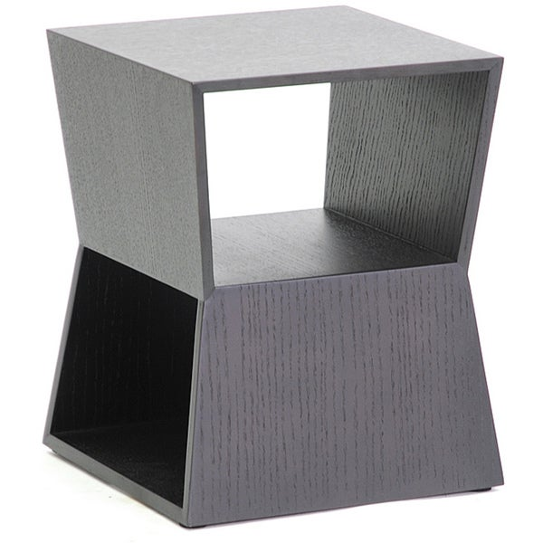 Marche Black Wood Modern End Table (As Is Item)