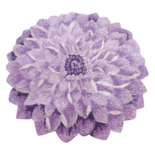 Dahlia Flower Shaped Vinyl Backed Coir Door Mat