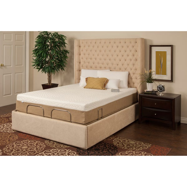 Sleep Zone Newport 10-inch Queen Adjustable Mattress Set