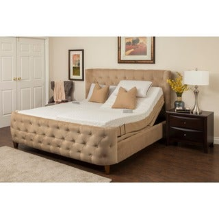 Sleep Zone Newport 10-inch Split King Memory Foam Mattress Adjustable Set