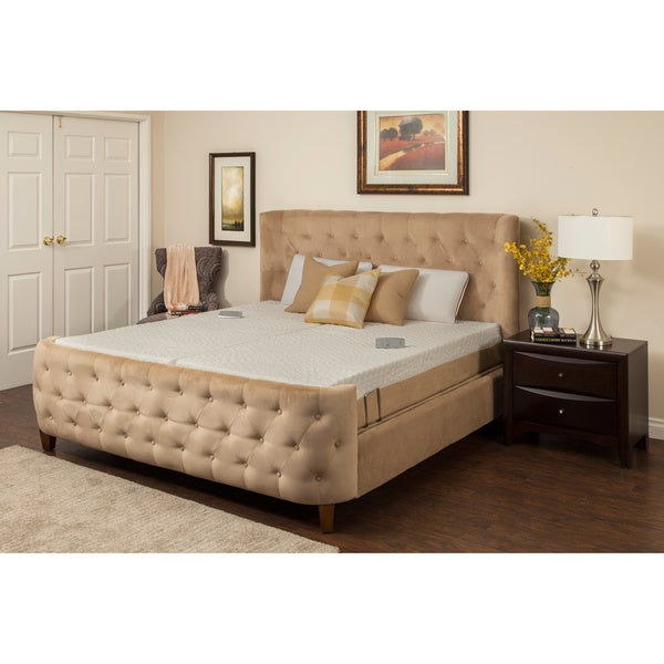 Sleep Zone Newport 10-inch Split King Adjustable Mattress Set