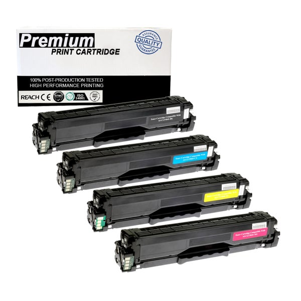 Compatible Samsung CLT-504S KCYM Multi Color Toner Cartridge for Printers SL-C1860FW CLP-415 CLX-4195 Series (4-pack)