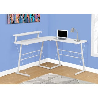 Computer Desk - White Top, White Metal