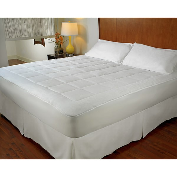 Dream Cloud Micro Plush Mattress Pad in Queen Size (As Is Item)
