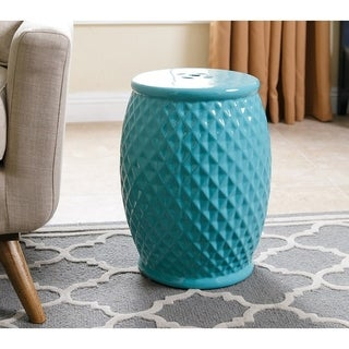 ABBYSON LIVING Marina Tufted Robbins Egg Ceramic Garden Stool
