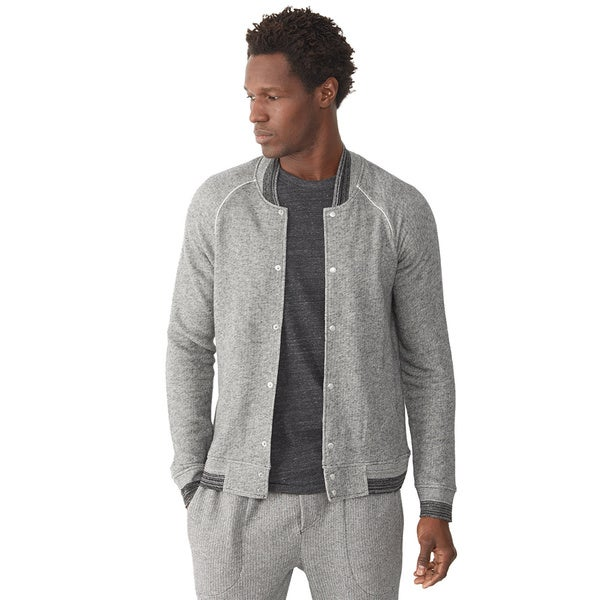 Alternative Apparel Men's Grey Stadium Jacket
