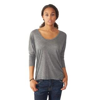 Alternative Apparel Women's Grey Dolman Long Sleeve Top