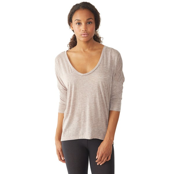 Alternative Apparel Women's Mocha Dolman Long Sleeve Top