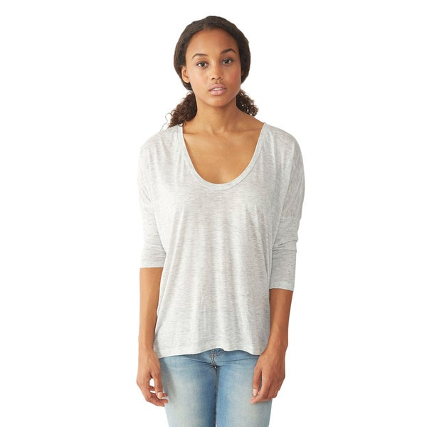 Alternative Apparel Women's Light Grey Dolman Long Sleeve Top