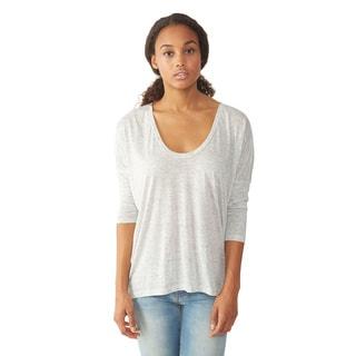 Alternative Apparel Women's Light Grey Dolman Long Sleeve Top