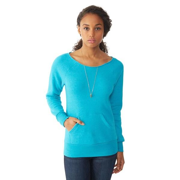 Alternative Apparel Women's Maniac Teal Eco Fleece Sweatshirt