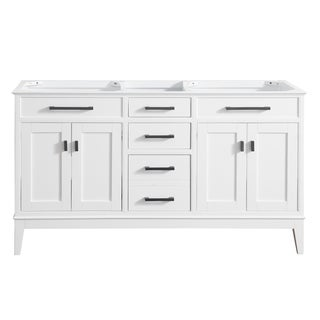 Avanity Madison 60 in. Double Sink Vanity Only in White Finish