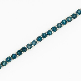 Sterling Silver London Blue Topaz Tennis Bracelet