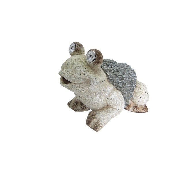 12-inch Solar Frog Statue