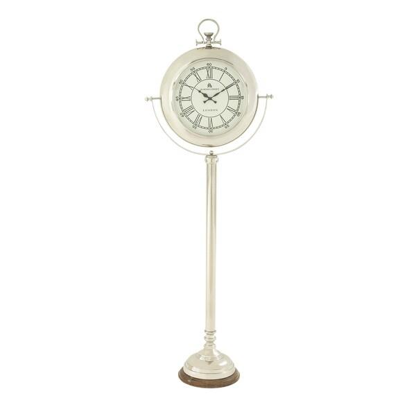 Steel Wood Floor Clock