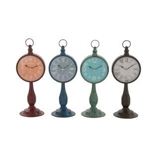 Metal Table Clock 4 Assorted