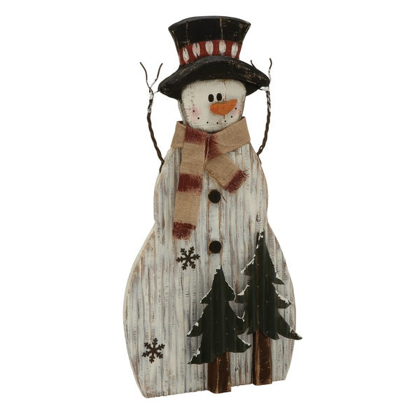 Enthralling Wood Metal Snowman