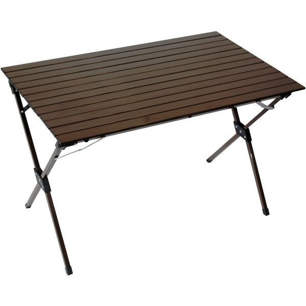 Picnic Large Aluminum Portable Table in a Bag in Brown