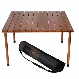 """16"""" H Wood Portable Table in a Bag"""