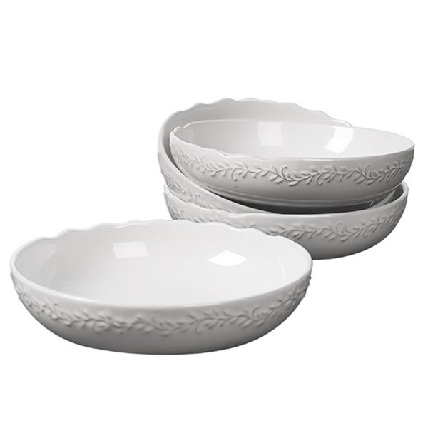 Le Provence-Set of Four 8.25 Inch Stoneware Soup Bowls