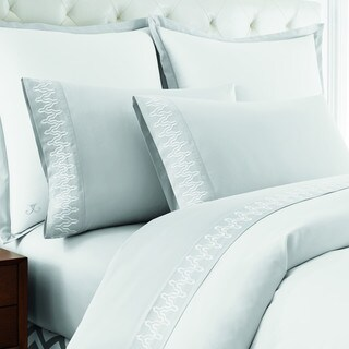 Jill Rosenwald Buckley Chevron Embroidered Standard Pillowcase Pair