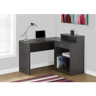 Grey Corner Computer Desk with Storage