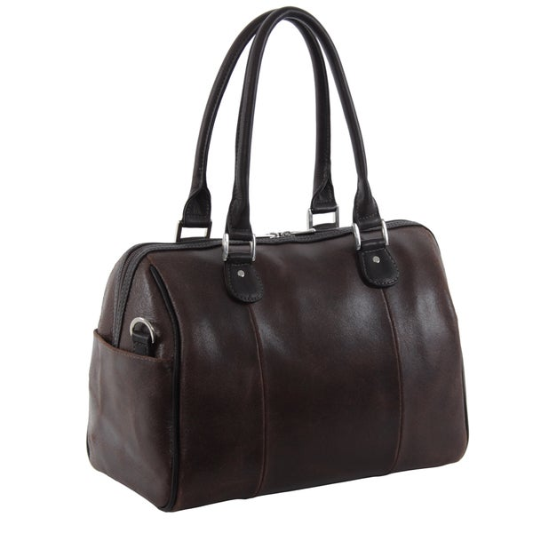 Piel Leather Vintage Dark Brown Satchel
